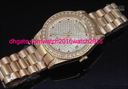 Wholesale Luxury Mens Rose gold PRESIDENT Diamond Dial Men s Automatic Watch Sport Wrist Watches Original Box