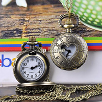 antique gold watch chain - New hot selling designer jewelry antique Bronze design Necklace pendant pocket watch with chain