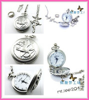 Wholesale Retail Fashion Full metal Alchemist Loose Pocket Watch Necklace Ring Set Cosplay FS