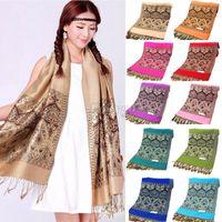 Wholesale Vintage Women Ethnic Bohemia Scarf Shawl Scarves Wrap Soft Kerchief Muffler fx281
