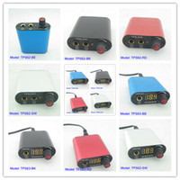 Wholesale Super Mini Aluminium Light Tattoo Power Supply For Tattoo Machine Kit Set Supply TPS62 amp TPS63