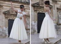 Wholesale 2014 Organza Unique Layering Fashion Ankle Length High Quality Custom Made Sweetheart OEM With Jacket White Bridal Wedding Evening Dresses