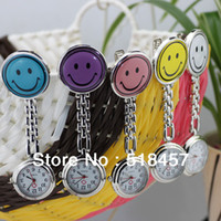 Wholesale 5PCS Smiling Face Design Nurse Portable Pocket Watches