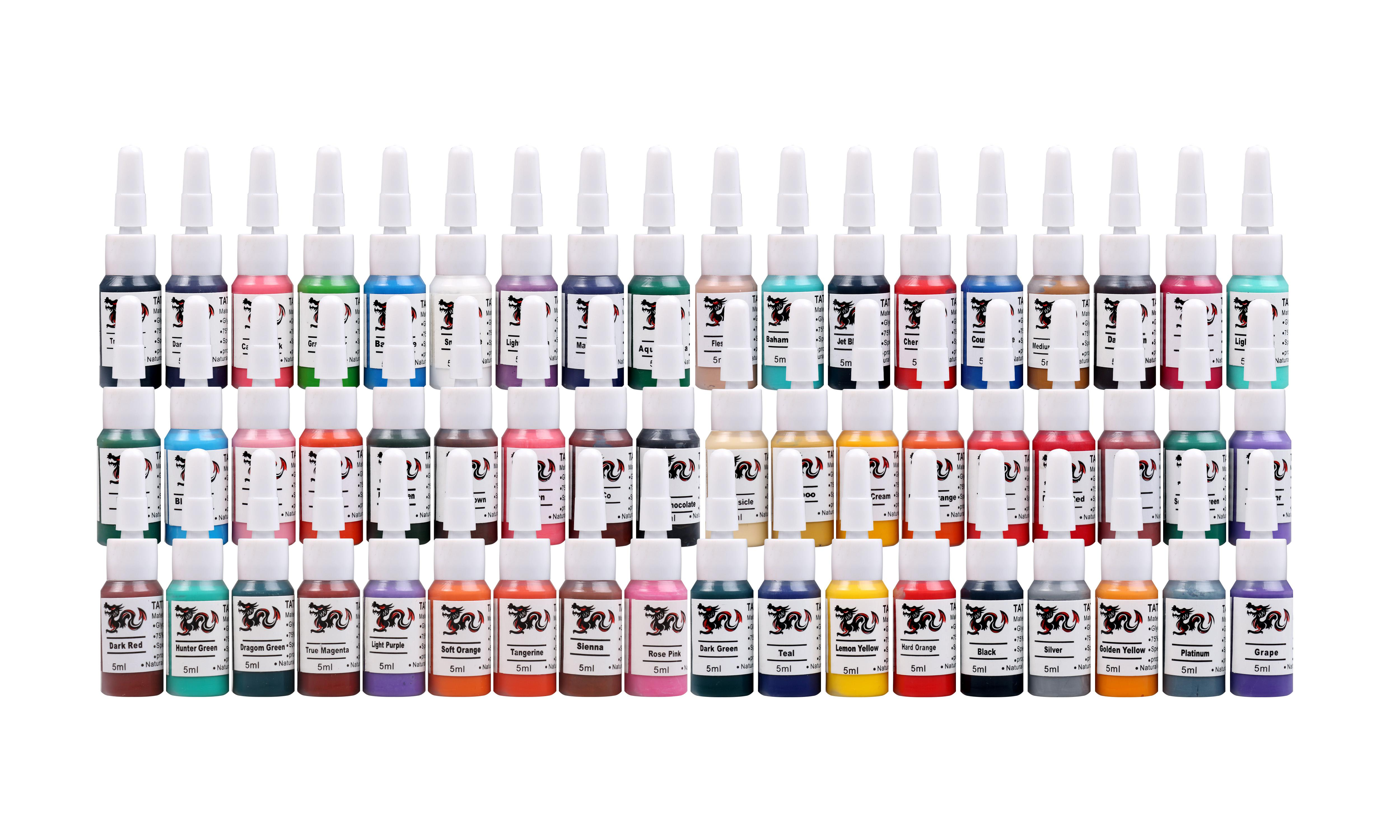 2oz 60ml bottle tattoo ink sets black color tattoo pigment for Grasshopper tattoo supply