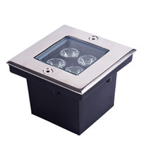 Wholesale 4PCS V AC W LED Outdoor Garden Underground Square Buried Light Flood Lamp Waterproof by Fedex