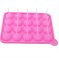 Wholesale 60sets Silicone Cake Stick Pops Mould Cupcake Baking Tray Pop Mold Party Kitchen Tools free shipiing H120