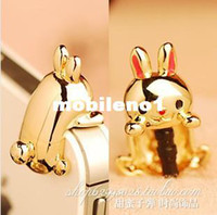 Earphone Jack Plugs 3.5mm Environmental zinc alloy Min.order is $ 10 (mix order) Free Shipping Cell Phone Accessories Phone Jewelry cute bunny dust plug Anti-dust