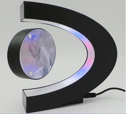 Wholesale C shape magnetic levitation floating photo frame novelty gift led light cool toy display of photo picture
