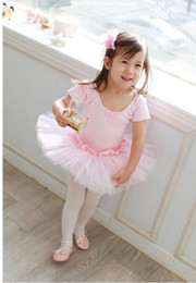 Wholesale Children s ballet skirt girls dance skirt baby dance dress uniforms children costumes with short sleeves