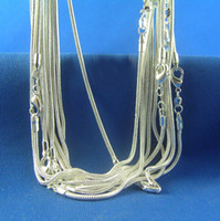 Wholesale Wholeale Silver mm inch Faddish high quality Smooth Snake Chain Necklaces