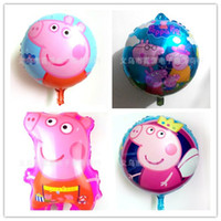 100pcs lot Cartoon Pappa Pig Blowing Balloon For Chidlren Da...