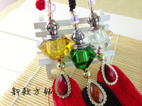 Wholesale Shinning Crystal Glass Perfume Bottles Car Perfume Bottles Inner Decoration ZH1402