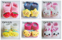 Unisex 0-6Mos Summer EMS FREE Fashion Stereo Cartoon Cotton Toy Sock Newborn Baby Gift Sock Silicone Bottom Imitation Shoes Sock Non-slip Baby Doll Sock SC06