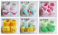 Unisex 0-6Mos Summer Fashion Stereo Cartoon Cotton Toy Socks Non-slip Baby Socks Newborn Baby Gift Socks Silicone Bottom Imitation Shoes Sock Doll Socks SC06