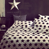 Twill Yes 40 Special promotion! stripe print 4 PCS bedding set double bed quilt 100% cotton quilt cover bedsheets