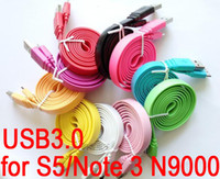 Cheap USB 3.0 Flat Micro USB Data Charging Cable Sync Charger Line 1M 3FT for Samsung Galaxy S5 i9600 Note3 N9000 Color Cables