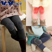 Jeans Girl Summer 2013 autumn children's clothing plush child baby female patch legging child boot cut jeans long trousers 5157