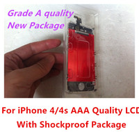 For Apple iPhone best speaker package - Best A Quality For iPhone G S CDMA Original LCD Display touch Screen Digitizer Speaker Mesh Shockproof Package DHL