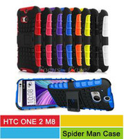 Wholesale M8 In Hybrid Cases Heavy Duty Durable TPU PC Kickstand Cases For New HTC ONE M8 Cell Phone Cases Color In Stock