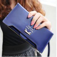 Wholesale 2014 new arrival leather women wallets woman messenger bag women s design wallet change purse for women