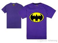 Men Round Broadcloth Wholesale - New 2014 HOT Free Shipping 100% COTTON black Batboy polo T-Shirts fashion high quality