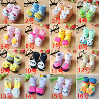 Unisex 0-6Mos Summer Hot Sale Stereo Cartoon Cotton Toy Sock Newborn Baby Gift Sock Silicone Bottom Imitation Shoes Sock Non-slip Baby Sock Doll Sock SC06