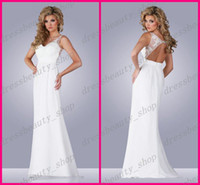 Sheath/Column Reference Images V-Neck 2014 Sexy Chiffon Sheath Goddess Grecian Beach Wedding Dresses Open Backless Sweep Train Summer Fall Garden Lace Appliques Sale Bridal Gowns