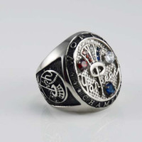 Wholesale stainless steel V gothic sports rings for world championship commemorate Rings for mens