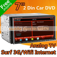 Video Guangdong China (Mainland) In-Dash 7 inch Universal 2 DIN CAR DVD Player with GPS Analog TV MP5 1080P iPod RDS Bluetooth WinCE 6.0 Office 3G Wifi FreeShipping!