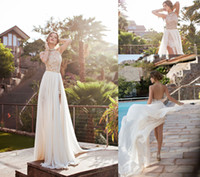 2014 Hot Sheath Column Lace Wedding Dresses Halter Applique ...