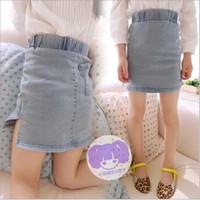 colored sand - denim spring girls high sand colored jeans hip pockets slit skirts short skirt