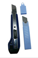 Wholesale 1 Retractable Razor Knife with Blades Color Deep Blue