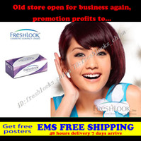 Halloween, Christmas, daily wear cosmetic contact lenses - Hot freshlook Lenses Crazy prices contact lenses colors mixed Piece cosmetic color free poster