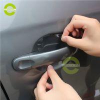 Handle Door car door handle - 4pcs Car Door Handles Universal Invisible Film Handle Door Protective Skin Exterior Equipment Size cm