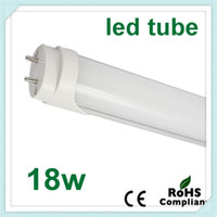 T8 18w SMD2835 100pcs LED tube light lamp Hot selling T8 SMD 2835 LED fluorescent tube light T8 AC85-265V led 18W 1800lm 1.2M high bright free shipping