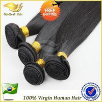 Brazilian Hair Straight Natural color 100% Virgin Brazilian hair Pure Human Hair Natural color 5a grade Straight Hair Extension Cheap Unprocessed Hair 4 bundles lot Quality