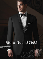 Wholesale Custom Men Suit Mens Complete Designer Tuxedo Bridegroom Suit Groom Wear Jacket Pants Tie SH