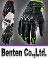 Wholesale LLFA5124 New Motorcycle motorbike racing gloves leather gloves Bomber gloves black and red motor glove M L XL