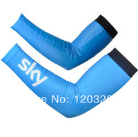 Wholesale SKY Bike Bicycle Warmer Sleeve Men and Women Blue Outdoor Sports Cycling Riding Warmers Prevent Bask Arm UV Protector Perspire Sleeves