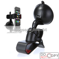 Wholesale Universal Windshield Degree Rotating Car Mount Bracket Holder Stand for iPhone S HTC Cellphone GPS MP4 PDA tablet