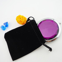 Wholesale 200pcs Mixed Colors Cosmetic Pocket Compact Stainless Makeup Mirrors Travel Must Retail Box Fashion Cute DHL Free Logo Print Promotion Gift