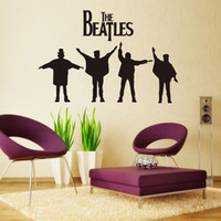 Wholesale THE BEATLES Wall Sticker Legend Rock Band Wall Decal Black Home Decor Sticker cm