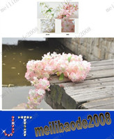 Wholesale Cherry Blossom Decorative Pink Flower Artificial Wedding Flowers Party Event Garden Hotal Plastic Fake Flower MYY1021