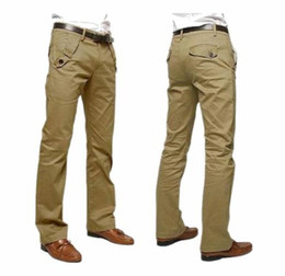 Wholesale 2014 New Hot sale Men s Fashion Trousers The new men s cotton casual pants Slim Straight