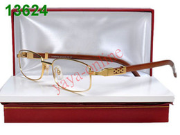 Wholesale name brand full eyeglass designer glasses frames good lenses wood leg mixed order dropshipping
