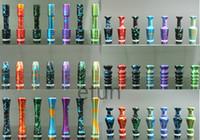 Wholesale New Design styles Metal aluminum alloy camo Drip Tips eGo Drip Tips Mouthpieces for DCT vivi nova Protank CE4 CE5 MT3 E Cigs