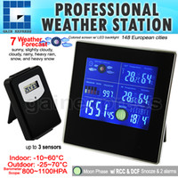Indoor/Outdoor Bimetal Thermometer S08S620PV_1S S08S620PV_1S Indoor Outdoor Wireless Weather Station Temperature Humidity RH Air Pressure RCC Thermometer Barometer with Bar Chart 220V only