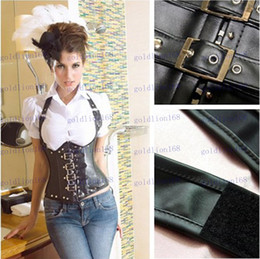 Wholesale Hot Sale New Essential intimate love DL Gothic Halter orange leather intersection to mention the chest corset vest