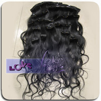 Wholesale Clip in Hair Extension Body Wavy inch in Stock Human Hair Raw Unprocessed Hair Made Dye able Hot Selling
