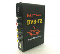 Cheap Car DVB-T2 HD MPEG2 MPEG4 Digital TV Receiver Box Terrestrial Tuner Antenna Auto Freeview 60-70KM H
